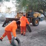 Servicios Urbanos de la Municipalidad realizó descacharreo en el barrio San José de Flores